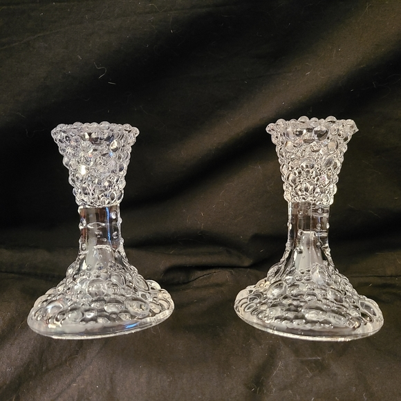 Partylite Crystal Candle Holders